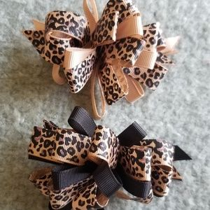 Accessories - Leopard print Hairclips